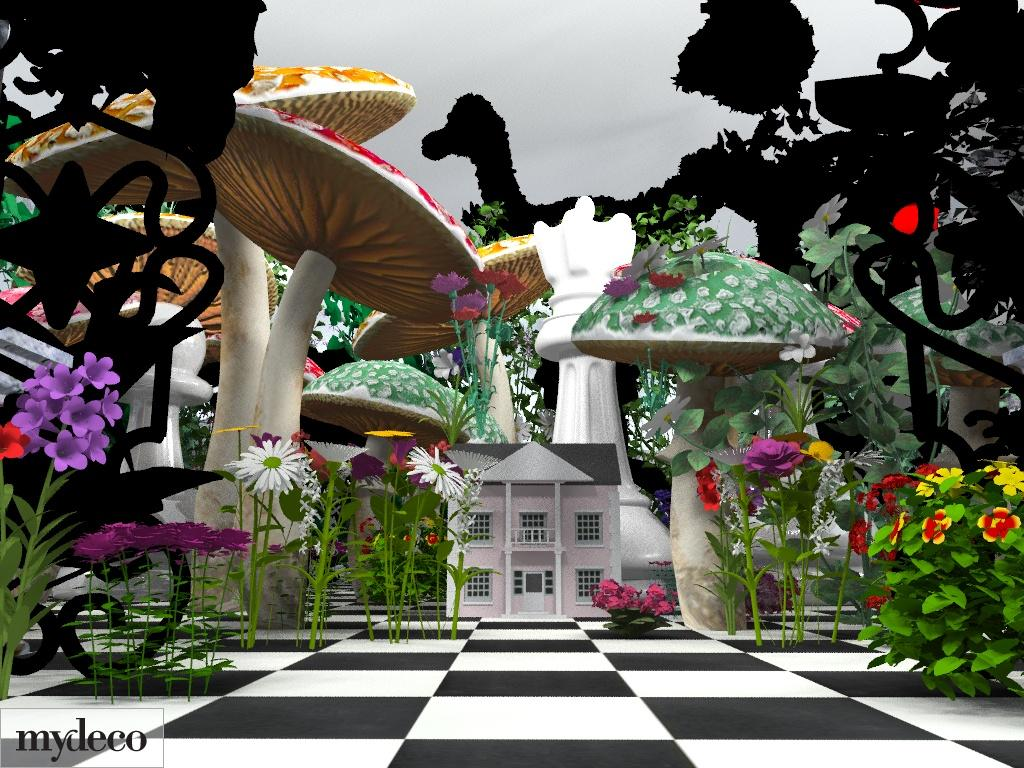 launches alice in wonderland inspired interior designs in 3d by mydeco. Black Bedroom Furniture Sets. Home Design Ideas