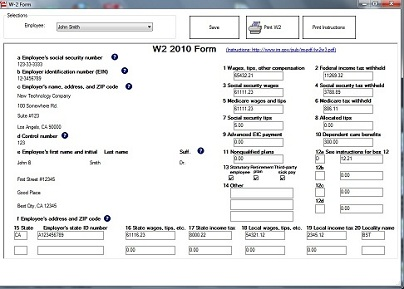 business w2 form  EzW10 Software Simplifies W10 Filing for New Business Owner by ...