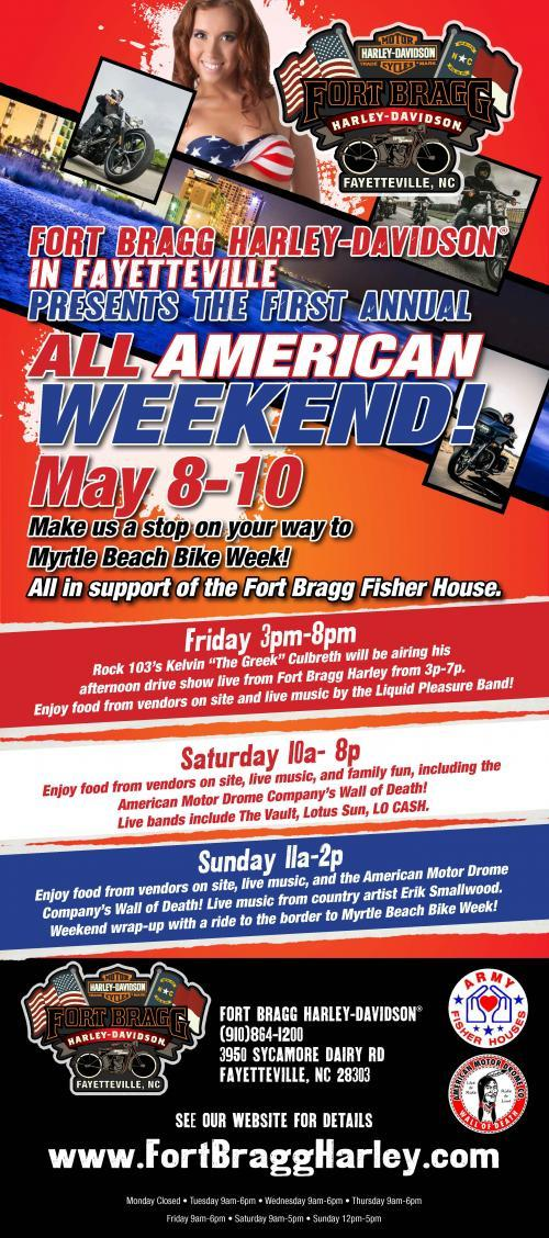 "ft. bragg harley-davidson presents: ""an all american weekend"""